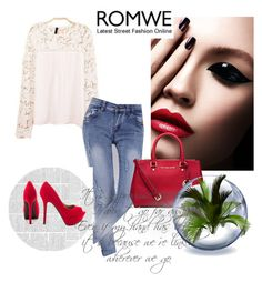 """""""Romwe 8."""" by enes-hasic5 ❤ liked on Polyvore featuring moda, MICHAEL Michael Kors, Qupid y romwe"""