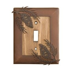 Image Detail for - Big Sky Carvers - Big Sky Pinecone Metal & Wood Light Switch Cover