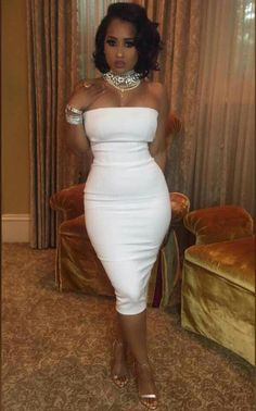 Designer Clothes, Shoes & Bags for Women Sexy Outfits, Sexy Dresses, Casual Dresses, Cute Outfits, Fashion Outfits, Dress Outfits, Tammy Rivera, White Fashion, Look Fashion