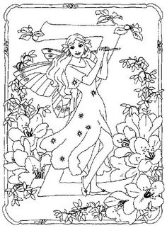 coloring page Alphabet fairies on Kids-n-Fun. Coloring pages of Alphabet fairies on Kids-n-Fun. More than coloring pages. At Kids-n-Fun you will always find the nicest coloring pages first! Fairy Coloring Pages, Alphabet Coloring Pages, Cool Coloring Pages, Printable Coloring Pages, Coloring Pages For Kids, Coloring Books, Cross Stitch Letters, Alphabet Design, Flower Fairies