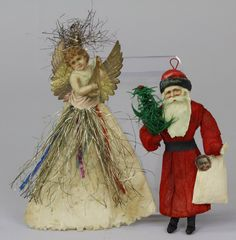 SANTA AND ANGEL CHRISTMAS TREE ORNAMENTS