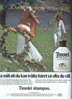 Swedish ad for Timotei shampoo, 1977 Retro Ads, Vintage Advertisements, Vintage Ads, Sweet Memories, Childhood Memories, Vintage Makeup, Old Ads, Vintage Hairstyles, Alter