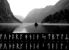Futhark, the Viking alphabet. It was based on runes and takes its name from the first six letters. Shown here are the Danish and Swedish versions