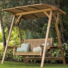 Marvelous Garden Swing Bench #1 Wooden Swings With Canopy