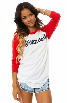 c9baa56c992b99 The Sleeve Raglan in Red   White by Diamond Supply Co.