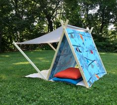 small pea studio - Journal - Play tent with canopy for kids Girls Play Tent, Kids Tents, Play Tents, Tent Design, Design Design, Baby Room Diy, Diy Baby, Diy Tent, Foto Baby