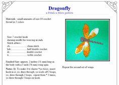 Dragonfly+Applique+PDF+Crochet+Pattern