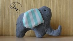 Słoń Sewing Sew Fabric Animals