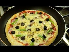 Learn How To Make Delicious And Yummy Pizza On Pan At Home A Quick Easy Recipe Without Oven Ingredients 3 Cups Of All Purpose Flour 1 Tbsp