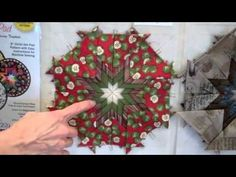 "Deborah Miller's ""Folded Star Hot Pad"" pattern and template set makes it ""sew"" easy to create a wonderful hot pad in no time at all! Order your pattern here:. Christmas Patchwork, Quilted Christmas Ornaments, Fabric Ornaments, Pinecone Ornaments, Star Quilt Patterns, Star Quilts, Quilting Tutorials, Quilting Projects, Quilting Tips"