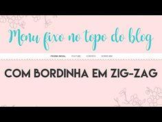 Menu no topo do blog em zig-zag
