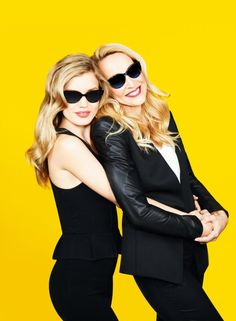Mom-and-daughter models Georgia May Jagger (left) and Jerry Hall in an ad for Sunglasses Hut.