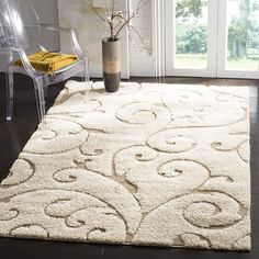 Safavieh Florida Shag Collection Scrolling Vine Cream And Beige Area Rug Shag Carpet for Your House Carpet glue remover padding by the foot diy at menards for pool deck walmart Shag Carpet, Beige Carpet, Buy Carpet, Modern Carpet, Cream Area Rug, Beige Area Rugs, Outlet Store, Florida, Outdoor Rugs