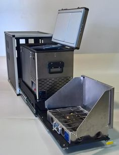 The Goose Gear CampKitchen is designed to house your fridge and your stove in one convenient Module. Featuring a double slide operation, you can open the fridge and/or the stove slide independently or combined. Version 2.1 is designed for ARB fridges up to 47qt, Engel up to 45qt, Indel B up to 40qt and SnoMaster up to
