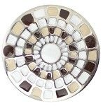 #1228 Snap in Style Metal Accent Tan Mosaic - 1 piece