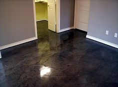 black stained concrete floors. Kemiko Black Stain  original artistic design in decorative concrete love painted black floors try using stain it works great