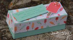 KreativStanz Eis, Eis, Baby! Stempelset und Thinlits Coole Kreationen von Stampin' Up! Verpackung Sommer Eis ice #stampinup #ice http://kreativstanz.bastelblogs.de/