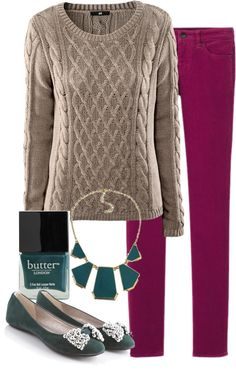 """Teacher Outfits on a Teacher's Budget: Colored Corduroys"" by allij28 on Polyvore"