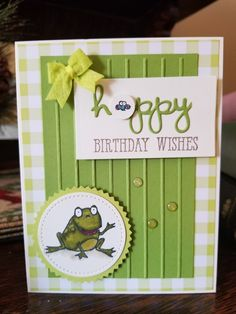 A quick card done up this morning featuring Stampin Up's new and not so new products. Very fun and easy card. Birthday Gifts For Teens, Birthday Cards For Men, Handmade Birthday Cards, Birthday Wishes, Baby Cards, Kids Cards, Stampin Up Karten, Stamping Up Cards, Creative Cards