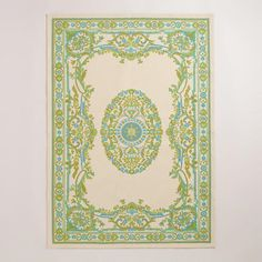 One of my favorite discoveries at WorldMarket.com: 4'x6' Green Victorian Dhurrie Rug