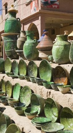 Green pottery - Tamgrout Morocco