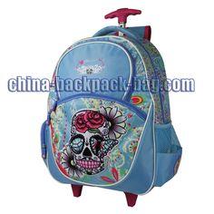 Skull Print Kids Trolley Bags, ST-15JH04TR