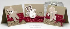Stampin' Up! Demonstrator Pootles - Cookie Cutter 3 x 3 Cards Stampin Up Christmas, Christmas Tag, Christmas Greeting Cards, Stampin Up Cookie Cutter, Holiday Punch, Christmas Cookie Cutters, Scrapbooking, Stamping Up Cards, Hobbies And Crafts