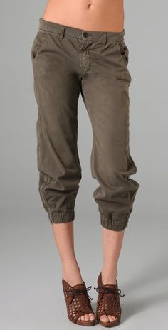jbrand earhart.....chino fight pants....LOVE the ankle zipper.........if you have a thinner frame...slouchy works.....