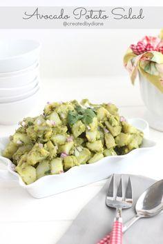 California Avocado Potato Salad - sub cauliflower for the potatoes to make it low carb Avocado Recipes, Veggie Recipes, Salad Recipes, Cooking Recipes, Healthy Recipes, Blog Tips, Avocado Nutrition, Picnic Dinner, Dinner Entrees