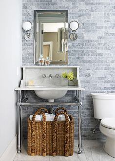 If you're planning a bathroom remodel, consider adding a few of these fabulous features. These popular bathroom upgrades will require a small investment, but the reward is a more luxurious oasis you'll love. #bathroomideas #bathroomremodel #newbathroom #bathroomdecor #bhg New Bathroom Ideas, Simple Bathroom, Neutral Bathroom, Bathroom Designs, Diy Bathroom Remodel, Bathroom Renovations, Vanity Backsplash, Luxury Shower, Glass Shower Doors