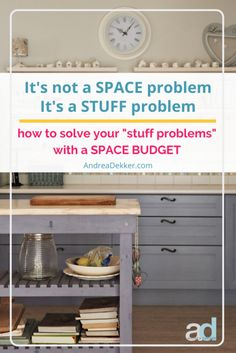 Space budgets are a simple way to minimize clutter in your home with very little mental or physical energy. The concept is easy enough that even young children pick it up fairly quickly! Extra Storage Space, Storage Spaces, Organizing Your Home, Home Organization, Building An Addition, Appliance Cabinet, Basement Storage, Small Drawers, Food Storage Containers