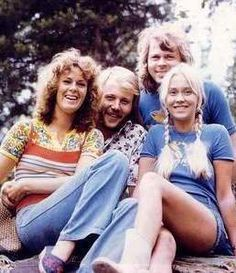 When ABBA won Eurovision in April 1974 all four ABBA members had left their marks on the Swedish language chart Svensktoppen: Bjorn had 36 Top 10 hits with the Hootenanny Singers and solo 4, Benny had 7 Top 10 hits with the Hepstars, Frida was in the Top 10 5 times and Agnetha had 15 Top 10 hits.  Bjorn & Benny together added another 5 Top 10 hits and with ABBA they had 3 Top 10 hits so far.The pic show ABBA in the summer of 1974 all relaxed and ready.