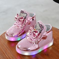New Girls Shoes Baby Fashion Hook Loop Led Shoes Kids Light Up Glowing Sneakers Little Girls Princess Children Shoes With Light -in First Walkers from Mother & Kids on Aliexpress.com   Alibaba Group