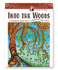 This Into the Woods Hidden Picture Coloring Book by Dover Publications is perfect! #zulilyfinds