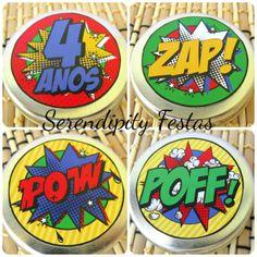 Adesivo para Latinhas mint to be - super herói - Super Hero  Papelaria Personalizada: https://www.facebook.com/serendipity.festas