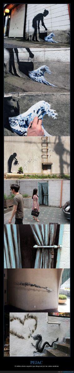 PEJAC - El artista urbano español que dibuja así por las calles asiáticas