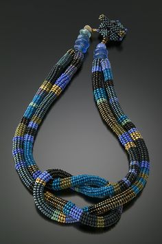 ~~Square Knot Necklace-Wisteria: Julie Powell: Beaded Necklace~~