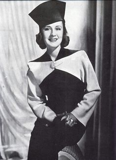 Norma Shearer in fashion for fall 1938 by Silverbluestar, via Flickr