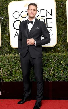 Justin Hartley from 2017 Golden Globes Red Carpet Arrivals  In Dolce & Gabbana