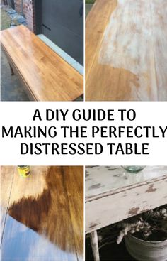A DIY Guide To Making The Perfectly Distressed Table | Farmhouse style table #DIY #beforeandafter #farmhousestyle #rusticdecor #farmhousedecor #homedecor Furniture Makeover, Diy Furniture, Refinished Furniture, Furniture Deals, Repurposed Furniture, Painted Furniture, Farmhouse Style Table, Farmhouse Decor, Home Design Living Room
