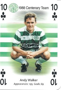 Andy Walker of Celtic in Steven Page, Celtic Fc, Glasgow, Playing Cards, Soccer, Goals, Baseball Cards, Sports, Badges
