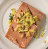 Salmon With Mango Salsa maple syrup ginger
