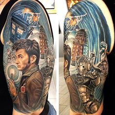 My Doctor who tattoo done by Logan Aguilar at Lastrites Tattoo in NYC.