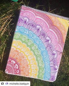 Espero y les guste ? Doodle Art Drawing, Cool Art Drawings, Mandala Drawing, Mandala Painting, Art Drawings Sketches, Easy Drawings, Mandala Design, Dibujos Zentangle Art, Sharpie Art