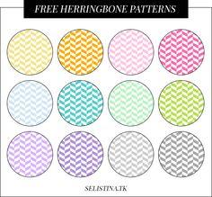 12 Free Herringbone Patterns