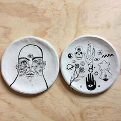 Porcelain plates.  Going to be apart of the second last shop update of the year. Happening this coming Saturday 29th of August 2pm Melbourne Australia. Check your time zones as I cannot do it for you.  24 days until the shop closes for the year as I am going overseas. So these next few weeks will be your last chance for a while to buy something.  Have a good day everyone  by franki_e