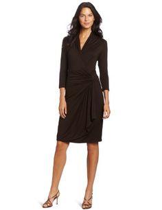 Karen Kane Women's Cascade Wrap Dress « Dress Adds Everyday