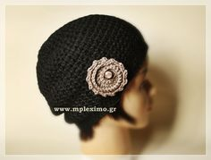 crochet cloche hat, from mpleximo.gr