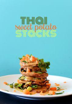 Thai Sweet Potato Stacks | Minimalist Baker