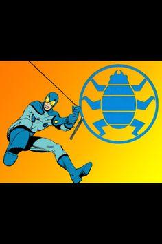 Blue Beetle Dc Comics Heroes, Comic Book Heroes, Comic Books, Blue Beetle, Vintage Space, Marvel Fan, Sci Fi Art, Dark Horse, Comic Character